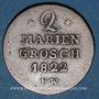 Coins Waldeck et Pyrmont. Georges Frédéric Henri (1813-1845). 2 mariengroschen 1822 FW