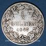 Coins Wurtemberg. Guillaume I (1816-1864). 1/2 gulden 1847