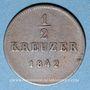 Coins Wurtemberg. Guillaume I (1816-1864). 1/2 kreuzer 1842