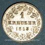 Coins Wurtemberg. Guillaume I (1816-1864). 1 kreuzer 1853