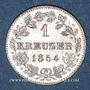 Coins Wurtemberg. Guillaume I (1816-1864). 1 kreuzer 1854