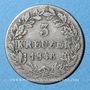 Coins Wurtemberg. Guillaume I (1816-1864). 3 kreuzer 1846