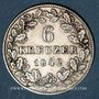 Coins Wurtemberg. Guillaume I (1816-1864). 6 kreuzer 1842