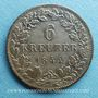 Coins Wurtemberg. Guillaume I (1816-1864). 6 kreuzer 1844