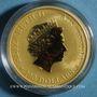 Coins Australie. Elisabeth II (1952- ). 100 dollars 2018 P. Kangaroo. (PTL 999‰. 31,10 g)