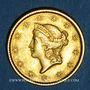 Coins Etats Unis. 1 dollar 1850. Philadelphie. (PTL 900‰. 1,67 g)