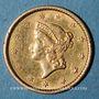 Coins Etats Unis. 1 dollar 1852. (PTL 900‰. 1,67 g)