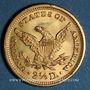 Coins Etats Unis. 2 1/2 dollars 1905. (PTL 900‰. 4,18 g)