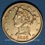 Coins Etats Unis. 5 dollars 1880. (PTL 900‰. 8,36 g)