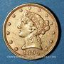 Coins Etats Unis. 5 dollars 1894. (PTL 900‰. 8,36 g)