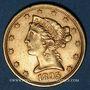 Coins Etats Unis. 5 dollars 1895. (PTL 900‰. 8,36 g)