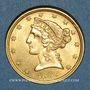 Coins Etats Unis. 5 dollars 1899. (PTL 900‰. 8,36 g)