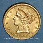Coins Etats Unis. 5 dollars 1900 S. San Francisco. (PTL 900‰. 8,36 g)