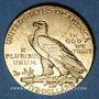 Coins Etats Unis. 5 dollars 1908. Tête d'indien. (PTL 900‰. 8,36 g)