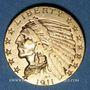 Coins Etats Unis. 5 dollars 1911. Tête d'indien. (PTL 900‰. 8,36 g)