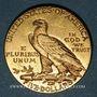 Coins Etats Unis. 5 dollars 1912. Tête d'indien. (PTL 900‰. 8,36 g)