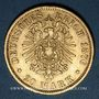 Coins Hambourg. 20 mark 1876 J. (PTL 900‰. 7,96 g)