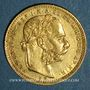 Coins Hongrie. François Joseph I (1848-1916). 20 francs / 8 florins 1880 KB. (PTL 900‰. 6,45 g)