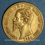 Coins Italie. Sardaigne. Victor Emmanuel II (1849-1861). 20 lires 1856 P. Gênes. (PTL 900‰. 6,45 g)