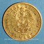 Coins Prusse. Guillaume I (1861-1888). 10 mark 1875 A. (PTL 900‰. 3,98 g)