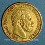 Coins Prusse. Guillaume I (1861-1888). 20 mark 1872 B. (PTL 900‰. 7,96 g)
