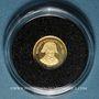 Coins République du Congo. 1 500 francs C.F.A. 2007. Napoléon I. (PTL 999‰. 0,5 g)