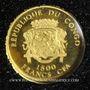 Coins République du Congo. 1 500 francs CFA. 2007. (PTL 999‰. 0,5 g)