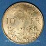 Coins Suisse. 10 francs 1916 B. (PTL 900‰. 3,22 g)