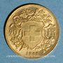 Coins Suisse. 20 francs Vrenelli 1922 B. (PTL 900‰. 6,45 g)