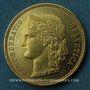 Coins Suisse. Confédération. 20 francs Helvetia 1889 A. (PTL 900‰. 6,45 g)