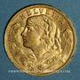 Coins Suisse. Confédération. 20 francs Vreneli 1899 B. (PTL 900‰. 6,45 g)