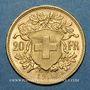 Coins Suisse. Confédération. 20 francs Vreneli 1913 B. (PTL 900‰. 6,45 g)
