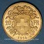 Coins Suisse. Confédération. 20 francs Vreneli 1914 B. (PTL 900‰. 6,45 g)