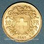 Coins Suisse. Confédération. 20 francs Vreneli 1927 B. (PTL 900‰. 6,45 g)