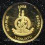 Coins Vanuatu. République. 20 vatu  2008 (PTL 999‰. 0,5 g)