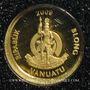 Coins Vanuatu. République. 20 vatu  2009 (PTL 999‰. 0,5 g)