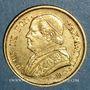 Coins Vatican. Pie IX (1846-1878). 10 lires 1867 an XXII R. Rome. (PTL 900‰. 3,22 g)
