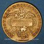 Coins Algérie. Boufarik. Concours Général Agricole. Billiards - Instruments. 1887. Médaille  or. 33,8 mm.