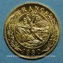 Coins Charles De Gaulle. Médaille or module  20 francs. La Marseillaise de Rude. 1980. 999,9‰.  6,45g.