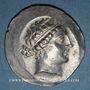 Coins Eolide. Cymé. 2e siècle av. J-C. Métrophanès, magistrat. Tétradrachme