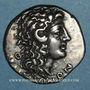 Coins Macédoine sous domination romaine. Aesilas, questeur (vers 90-75 av. J-C). Tétradrachme