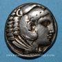 Coins Roy de Macédoine. Alexandre III le Grand (336-323 av. J-C). Tétradrachme. Amphipolis 318-317 av. J-C