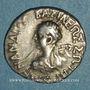 Coins Royaume de Bactriane. Ménandre I Soter (vers 155-130 av. J-C). Drachme de poids indien