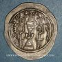 Coins Royaume sassanide. Hormazd IV (579-590). Drachme type I/1. An 12. YZ= Yazd