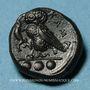 Coins Sicile. Camarina. Tétras, vers 410-405 av. J-C
