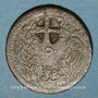 Coins Balkans. Ottomans. Bronze, 5 Para 1255H/ An 22, contremarqué