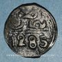 Coins Maghreb. 'Alawites. Muhammad IV (1276-1290H). 2 fulus 1285H. Fes