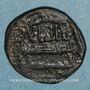 Coins Syrie. Abbassides, vers 180H. Fals au nom de 'Amrw b. 'Isa, Hims