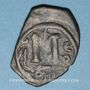 Coins Syrie. Monnayage pseudo-byzantin (638-c.670). Follis, buste impérial
