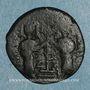 Coins Syrie. Zenguides. Nur al-Din Mahmud (541-569H). Br. Fals de style byzantin, (Alep)